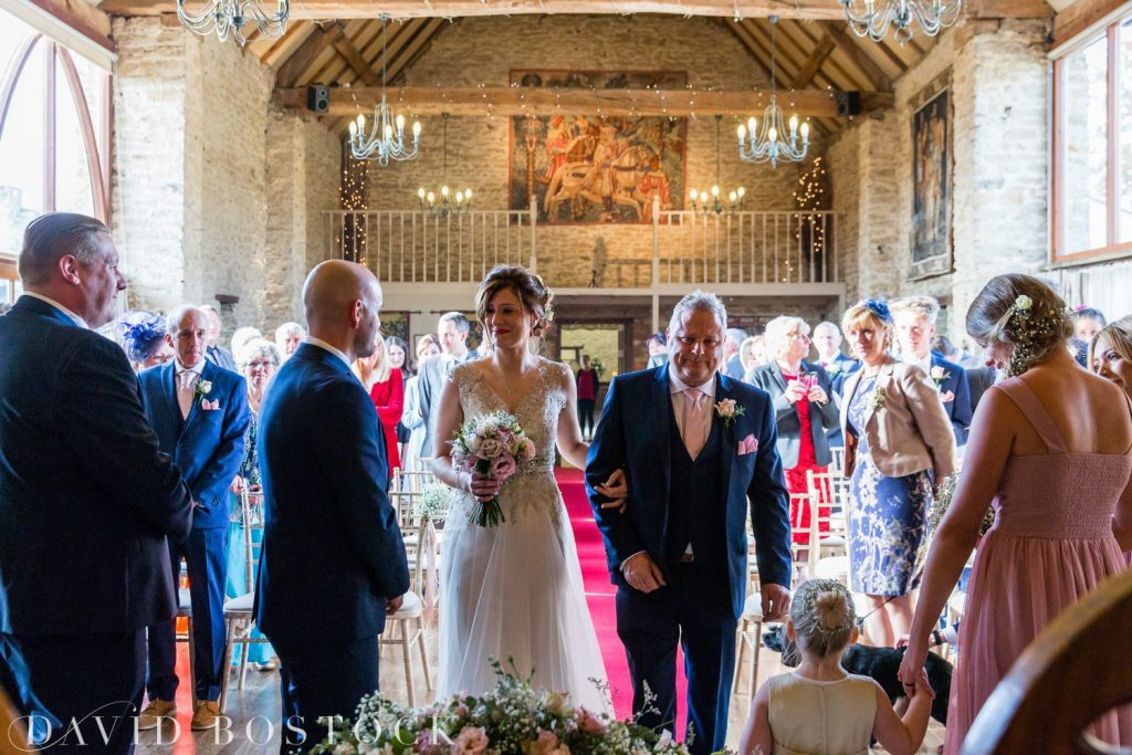 The Great Barn Aynho Wedding Photographs bride and groom
