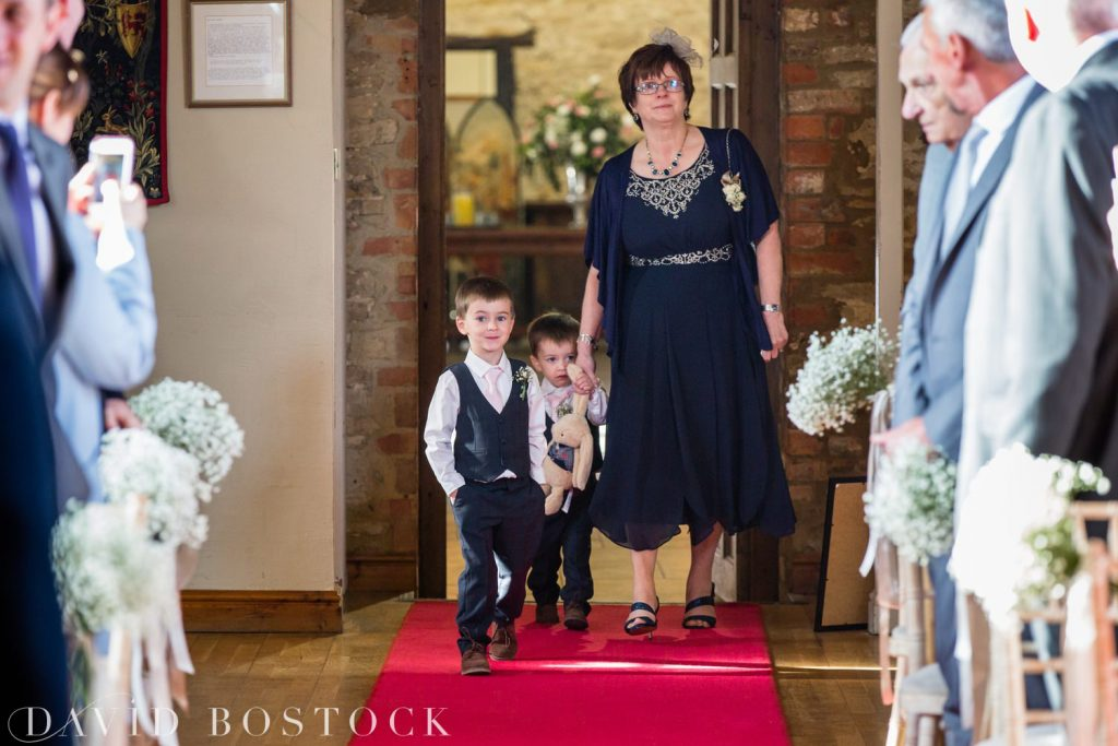 The Great Barn Aynho Wedding Photographs aisle