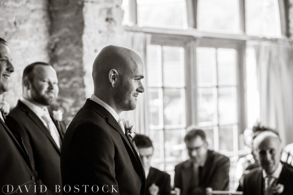 The Great Barn Aynho Wedding Photographs groom