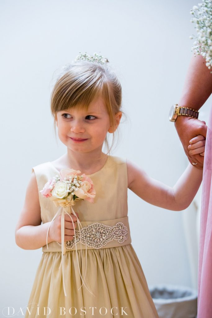 The Great Barn Aynho Wedding Photographs flower girl