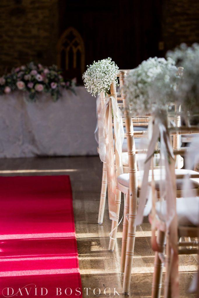 The Great Barn Aynho Wedding Photographs aisle
