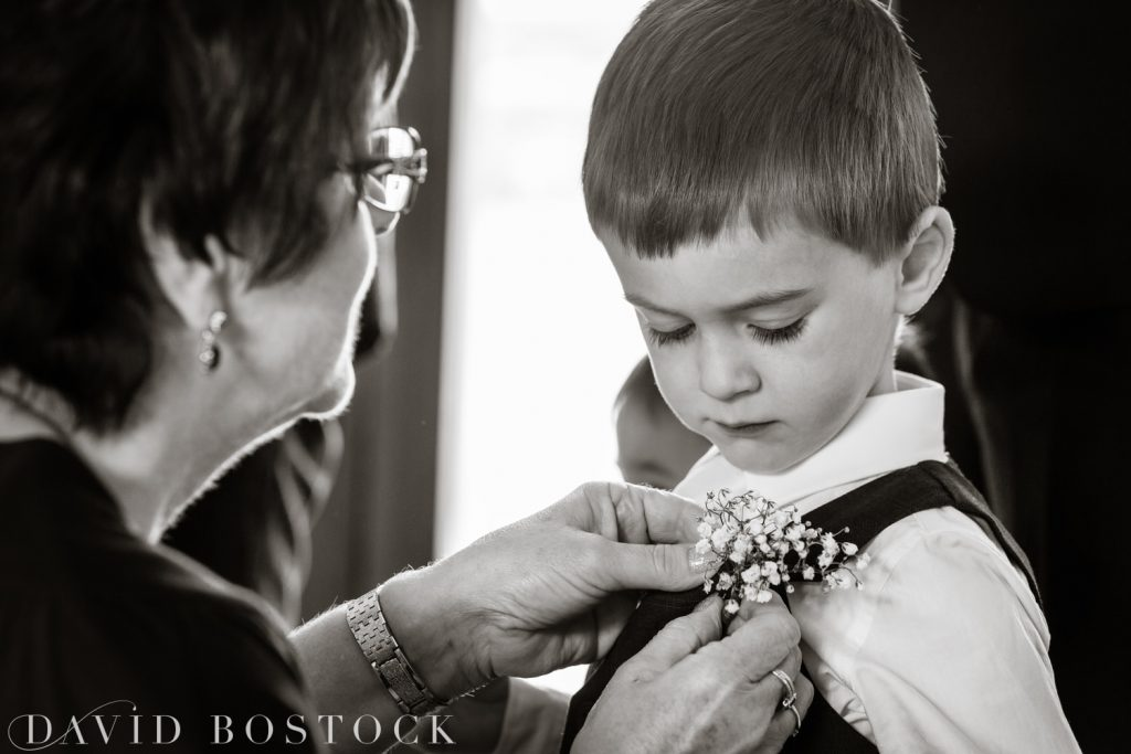 The Great Barn Aynho Wedding Photographs page boy