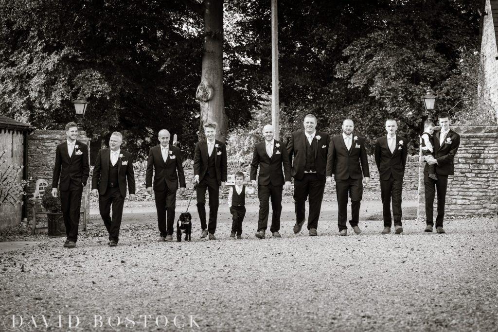 The Great Barn Aynho Wedding Photographs groomsmen