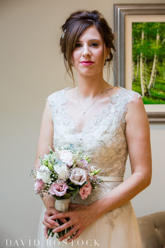 The Great Barn Aynho Wedding Photographs bride posing