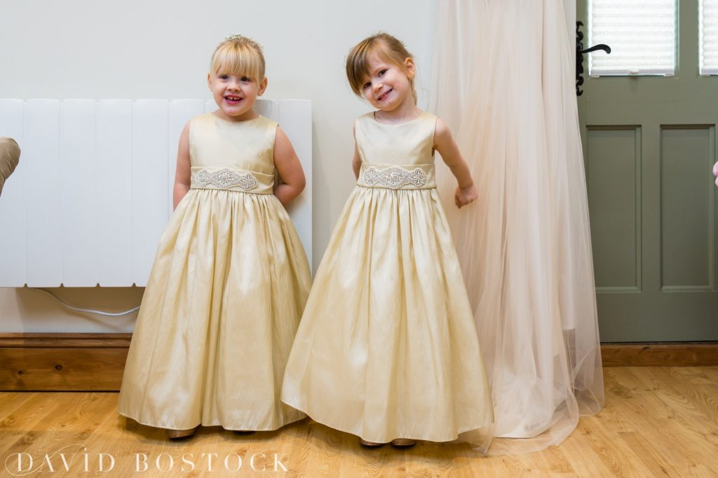 The Great Barn Aynho Wedding Photographs flower girls