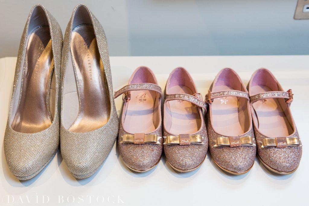 The Great Barn Aynho Wedding Photographs wedding shoes