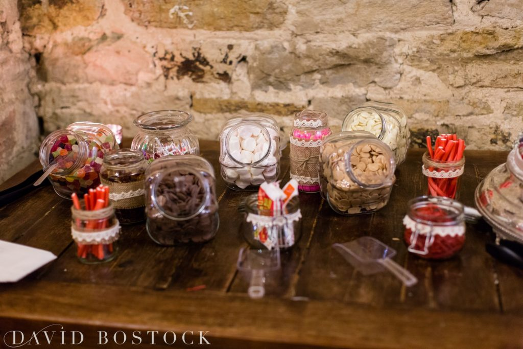 The Great Barn Aynho Wedding Photographs sweetie bar