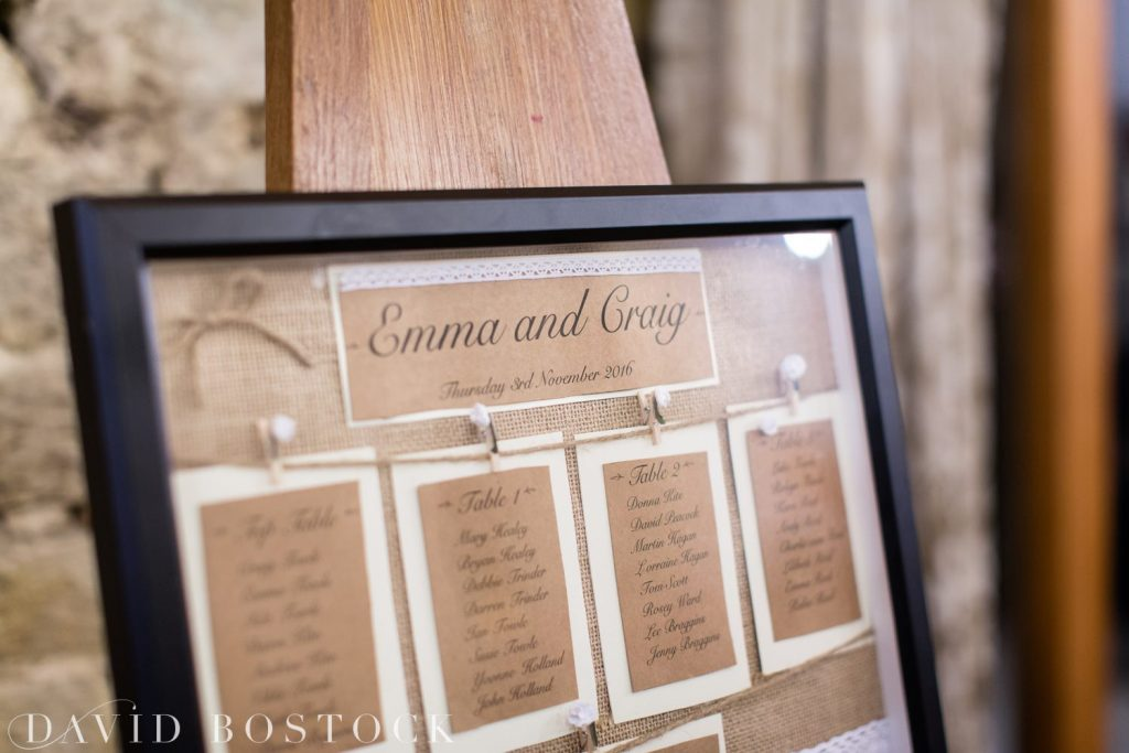 The Great Barn Aynho Wedding Photographs table plan