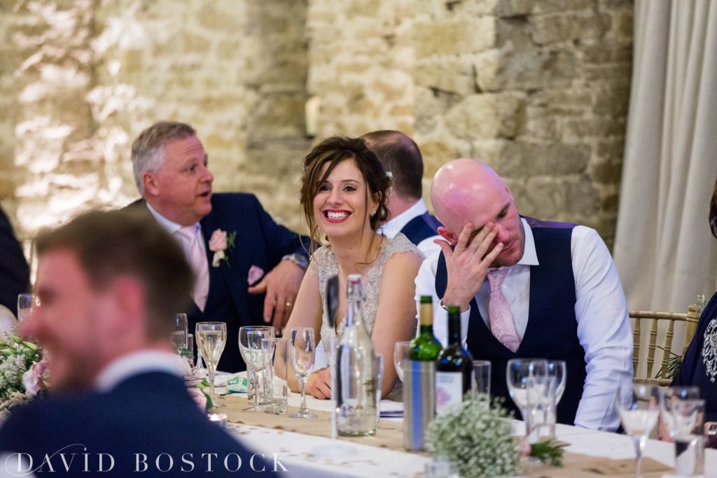 The Great Barn Aynho Wedding Photographs speeches