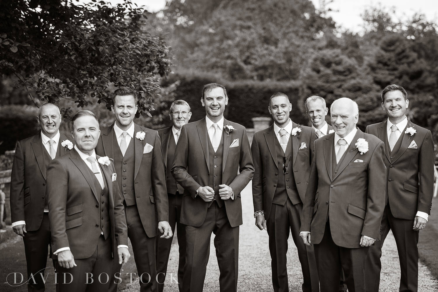 Eynsham Hall groom and groomsmen