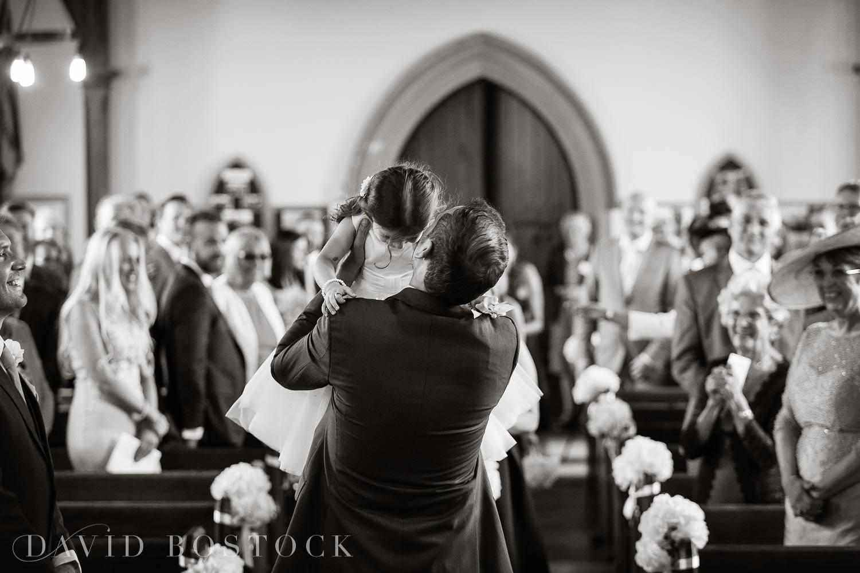 Oxfordshire wedding photo flower girl