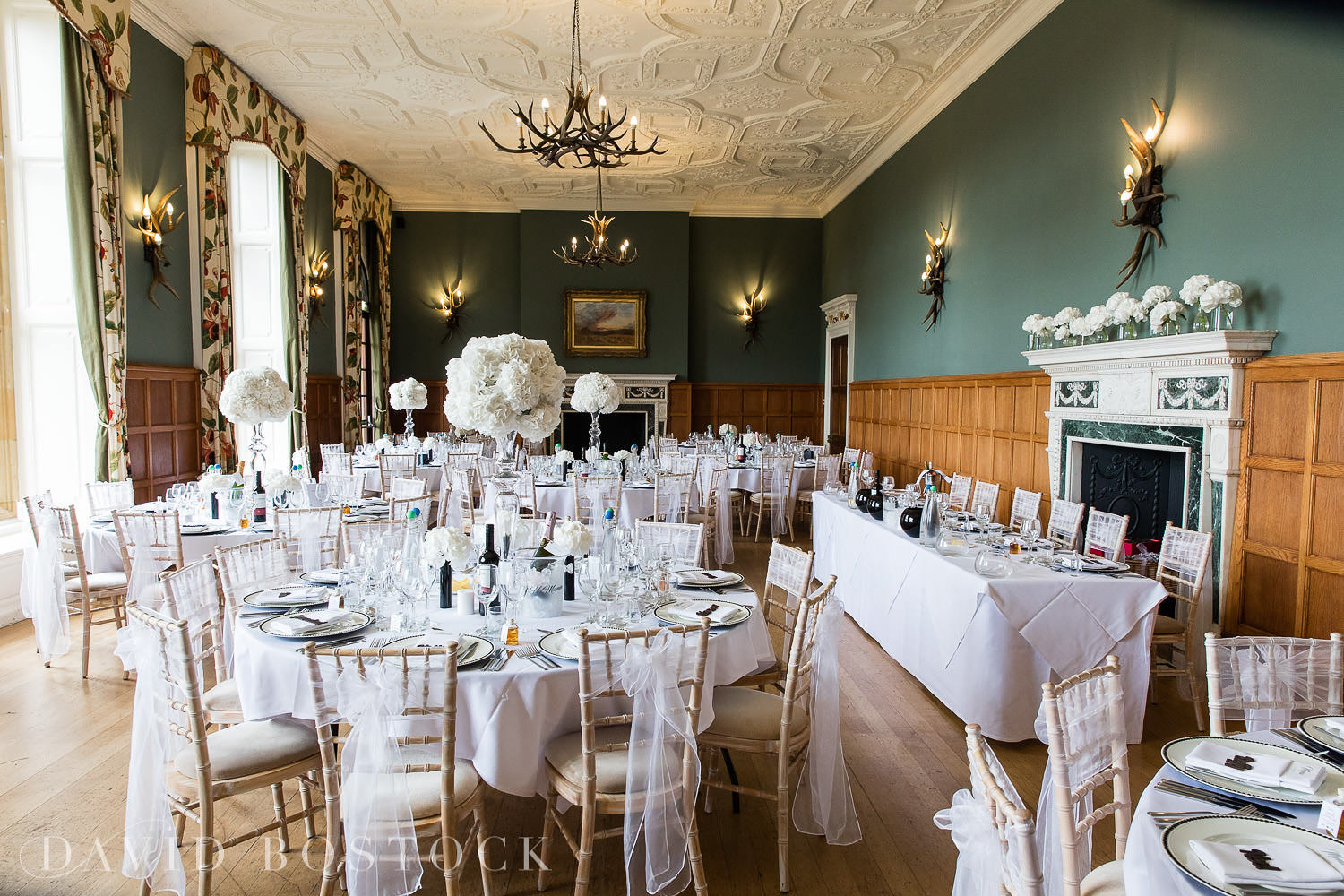 Eynsham Hall wedding breakfast photo