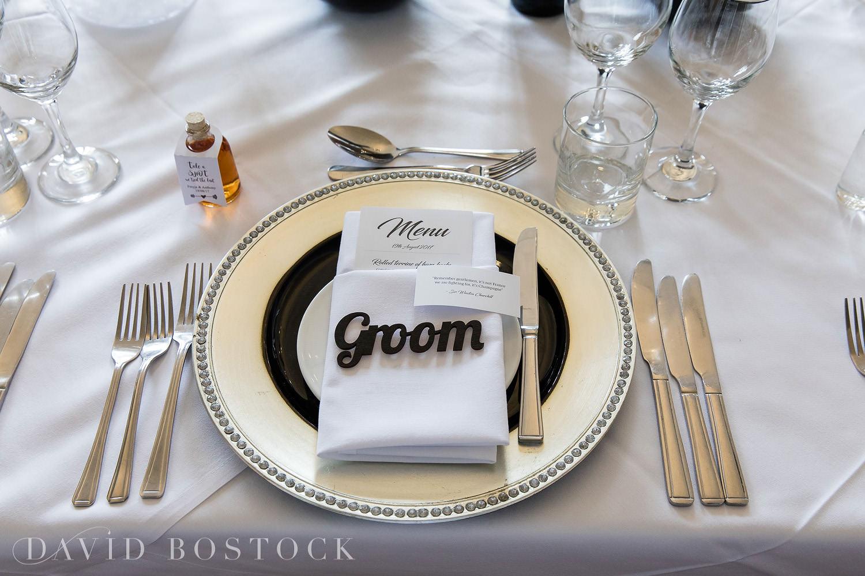 Eynsham Hall wedding photo table setting