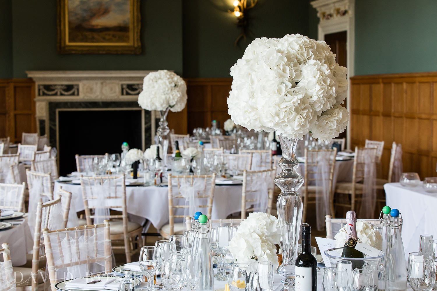 Eynsham Hall wedding photo dining
