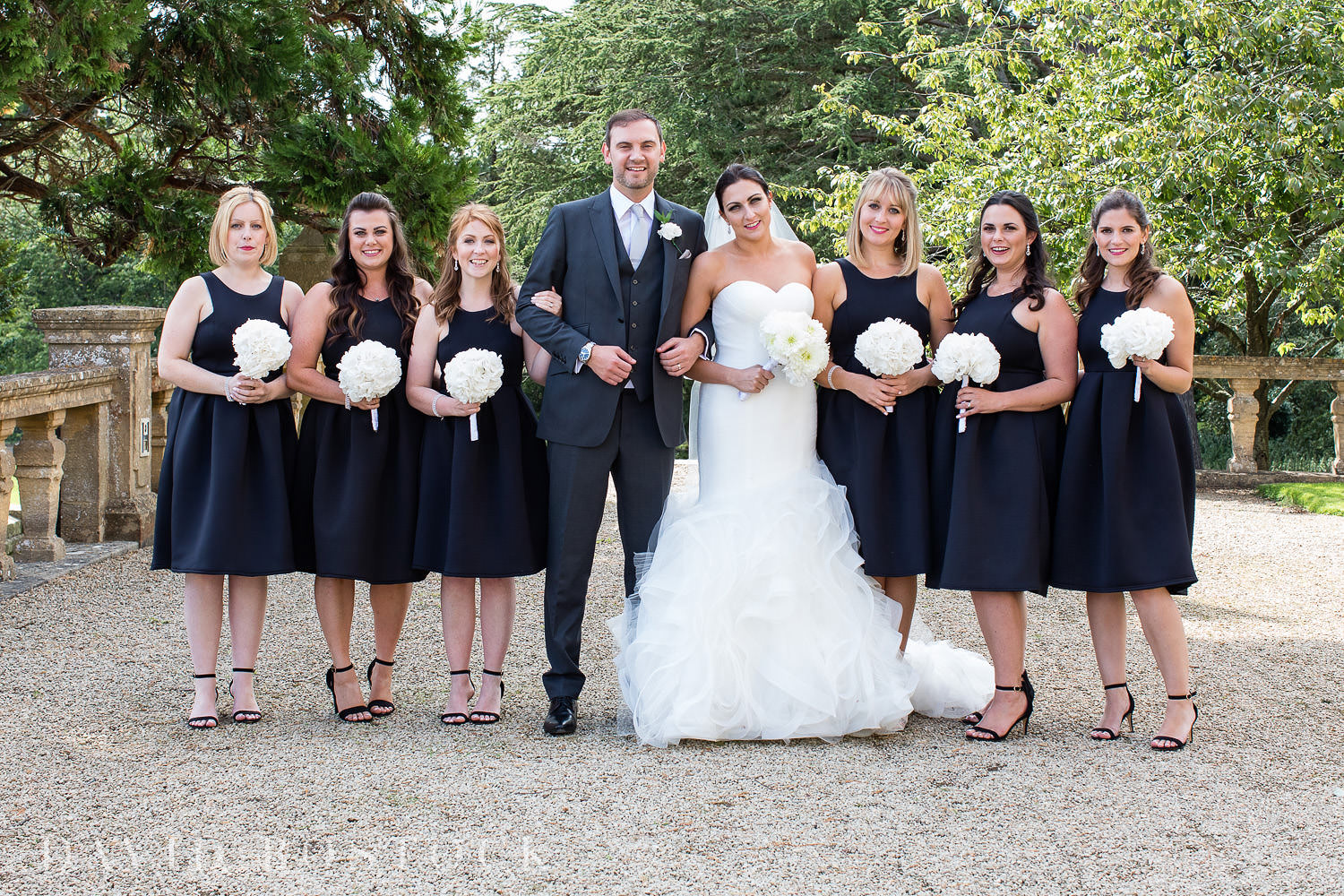 Eynsham Hall wedding photo bridal party