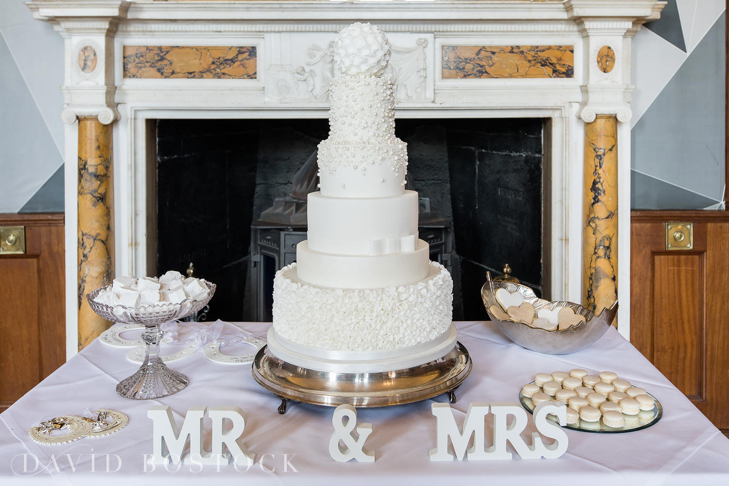 Eynsham Hall wedding photo cake