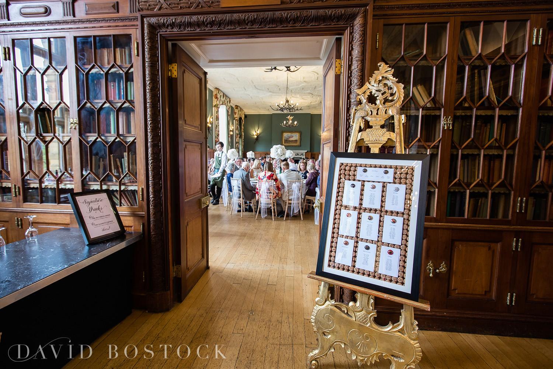 Eynsham Hall wedding photo seating plan
