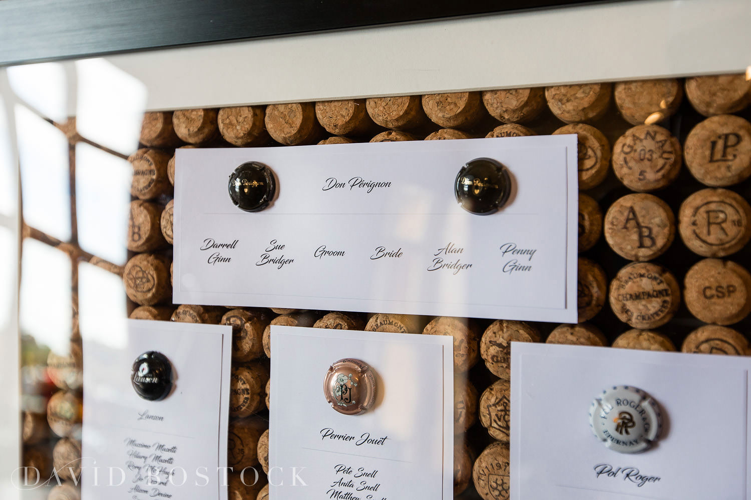 Eynsham Hall wedding photo cork seating plan