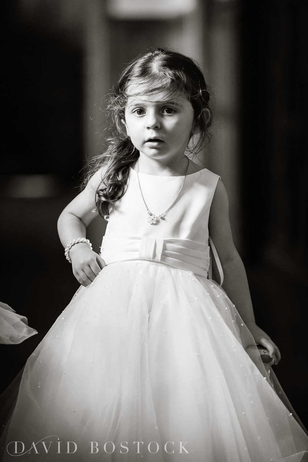 Eynsham Hall wedding photo flower girl sweet