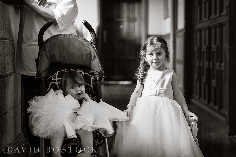 Eynsham Hall wedding photo flower girls
