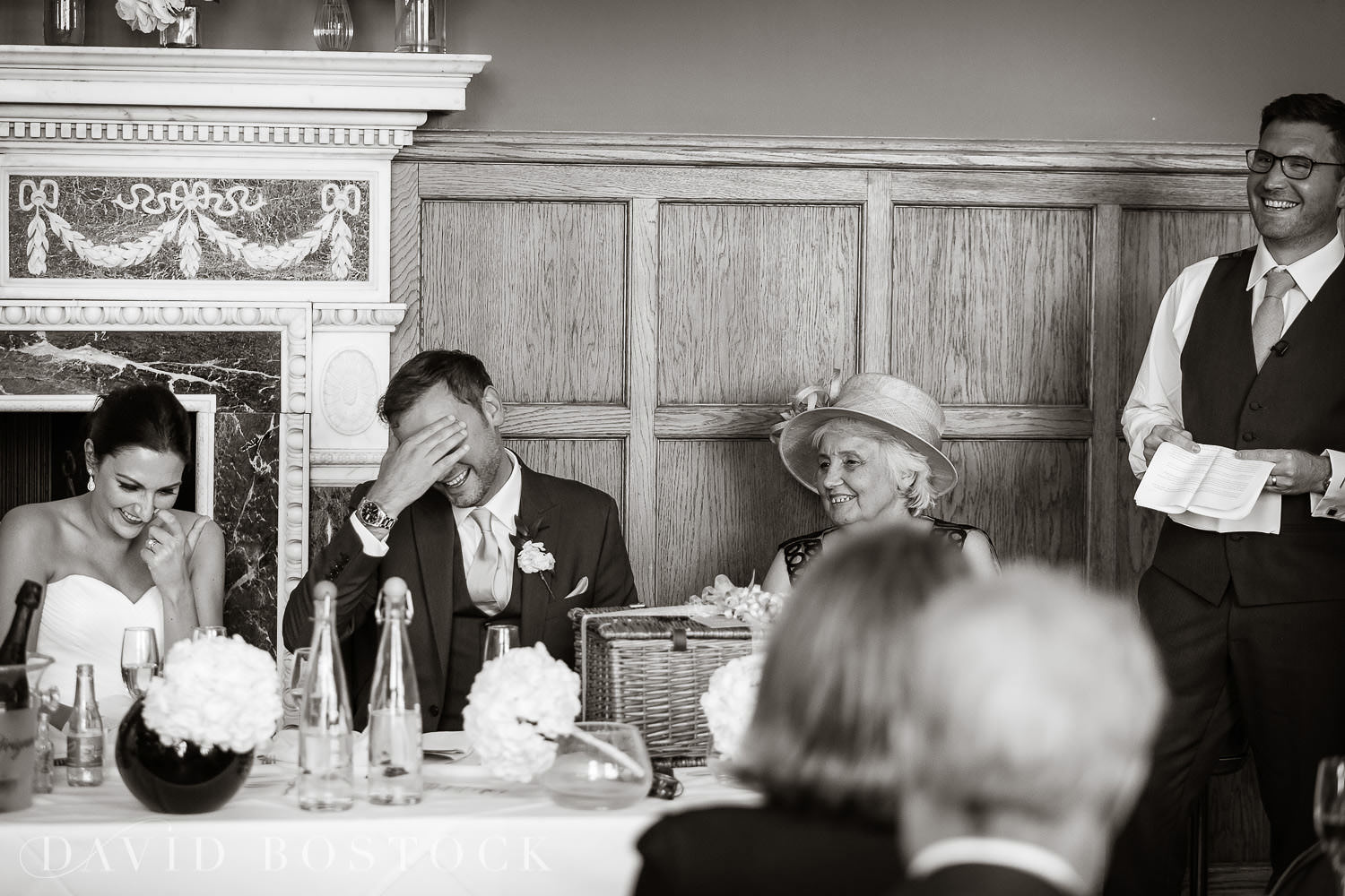 Eynsham Hall wedding photo funny speeches