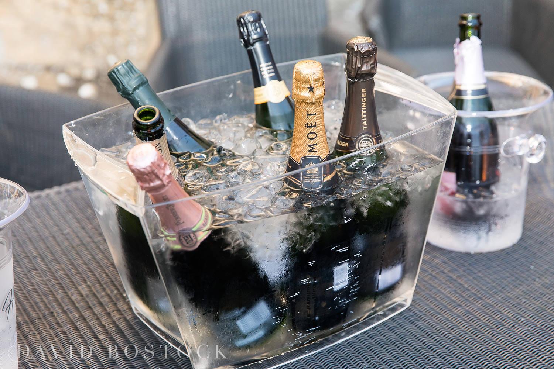 Eynsham Hall wedding photo champagne