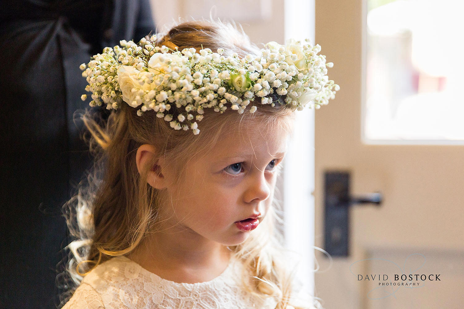 The Dairy Waddesdon wedding photo flower girl