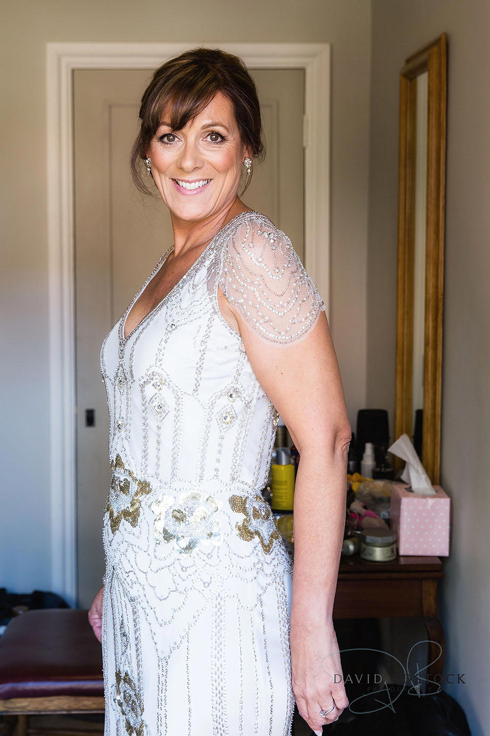 The Dairy Waddesdon wedding photo bride Jenny Packham