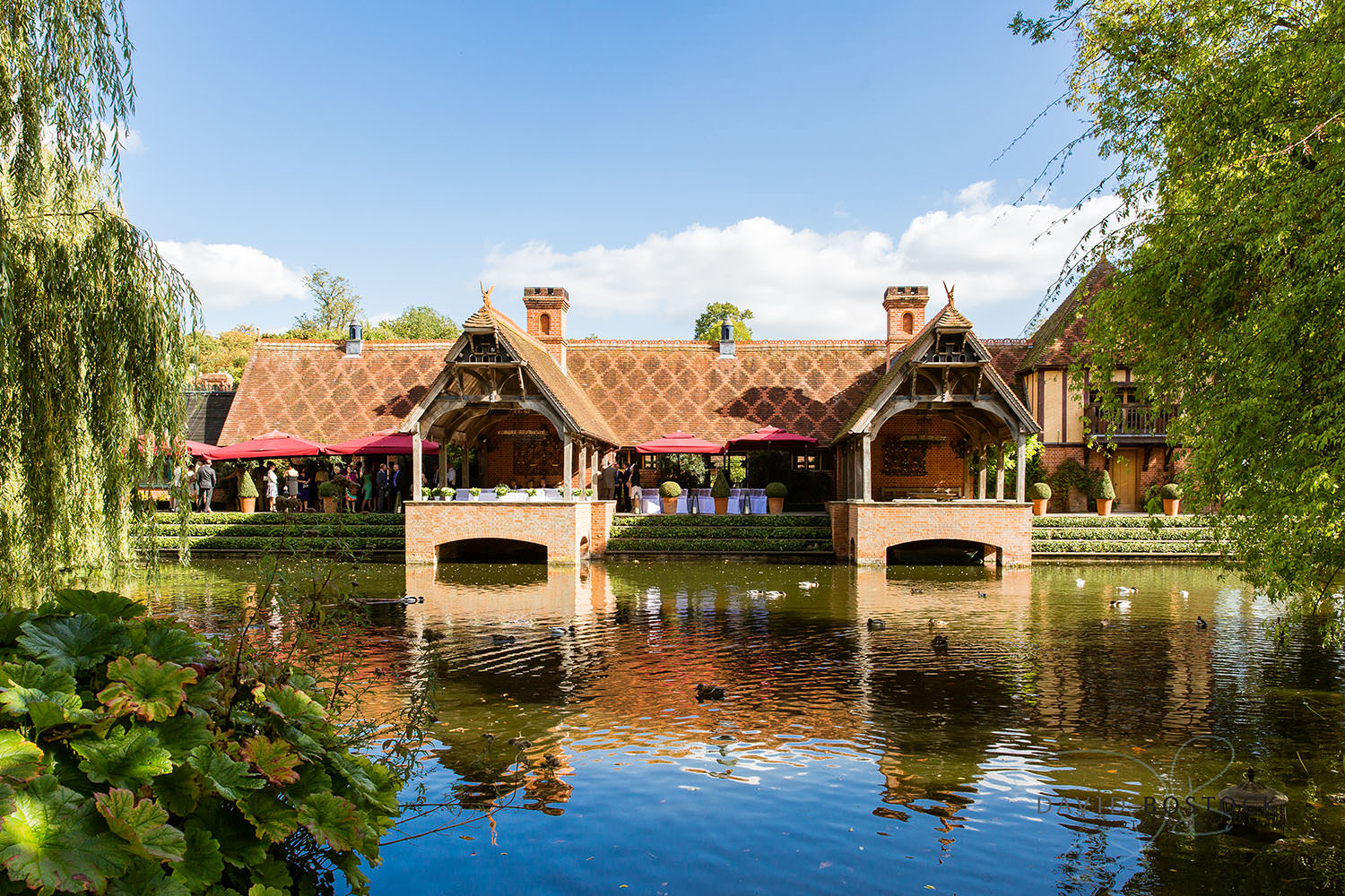 The Dairy Waddesdon wedding photo lakeside pavilion