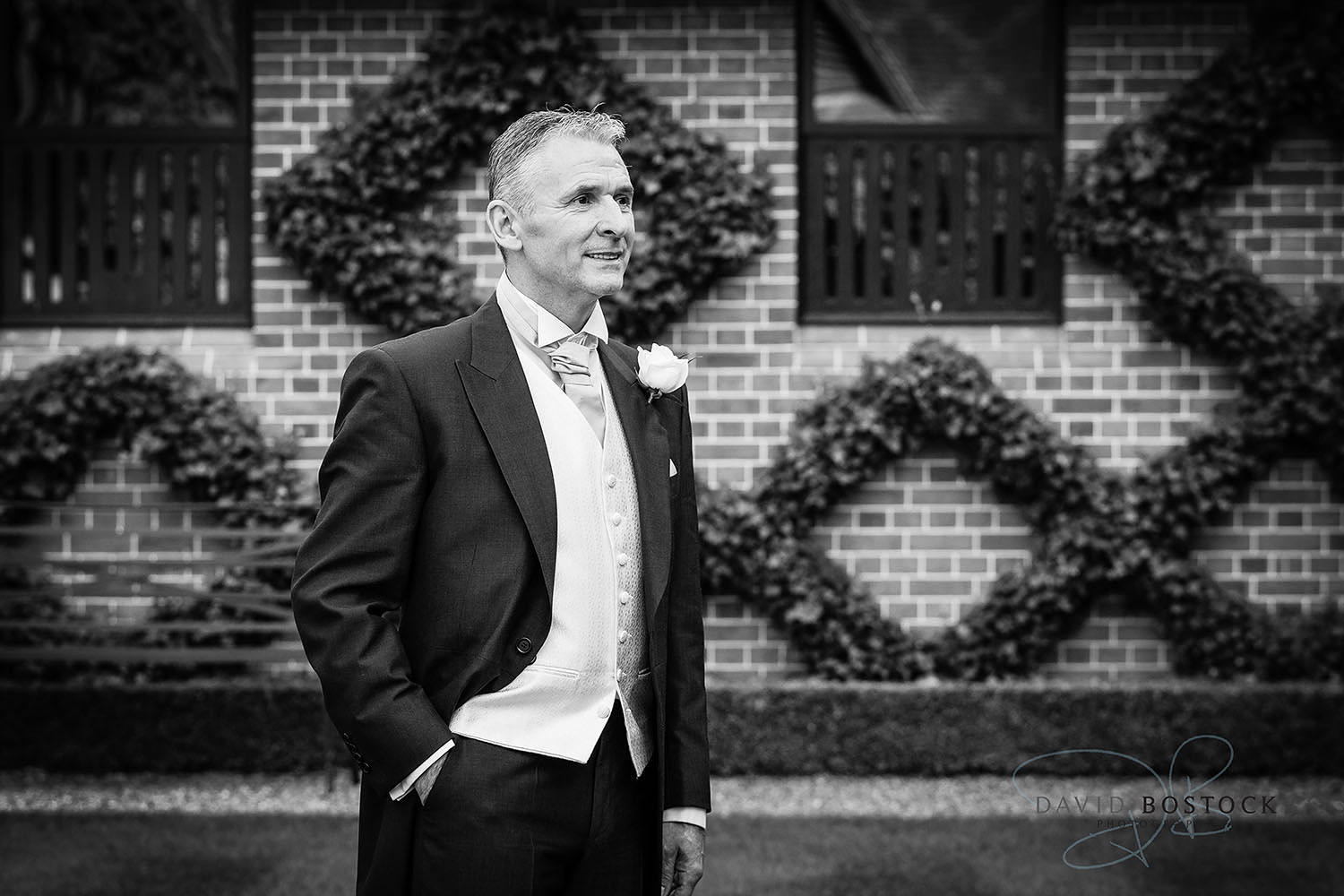 The Dairy Waddesdon wedding photo groom
