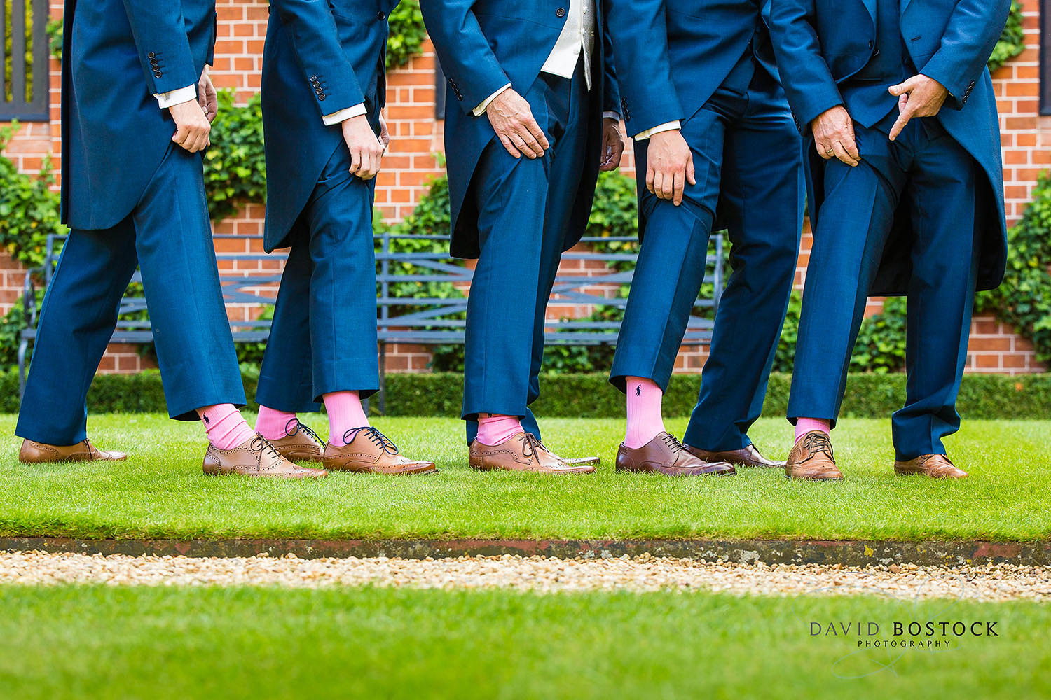 The Dairy Waddesdon wedding photo groomsmen funny