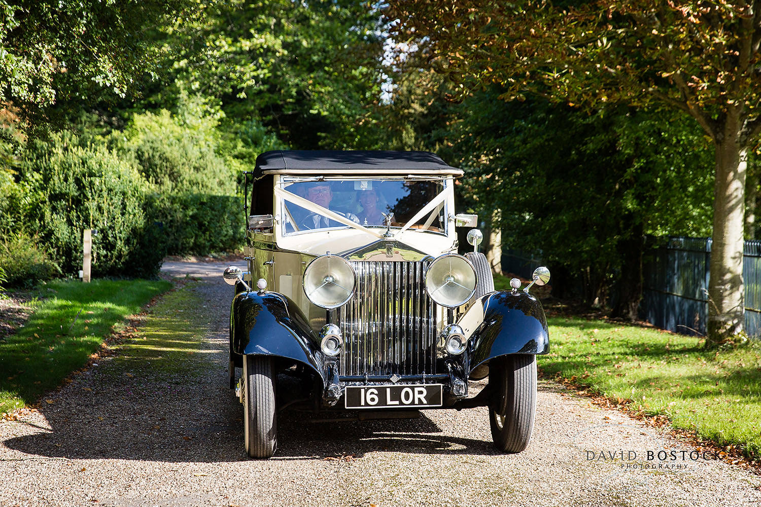 The Dairy Waddesdon wedding photo vintage car
