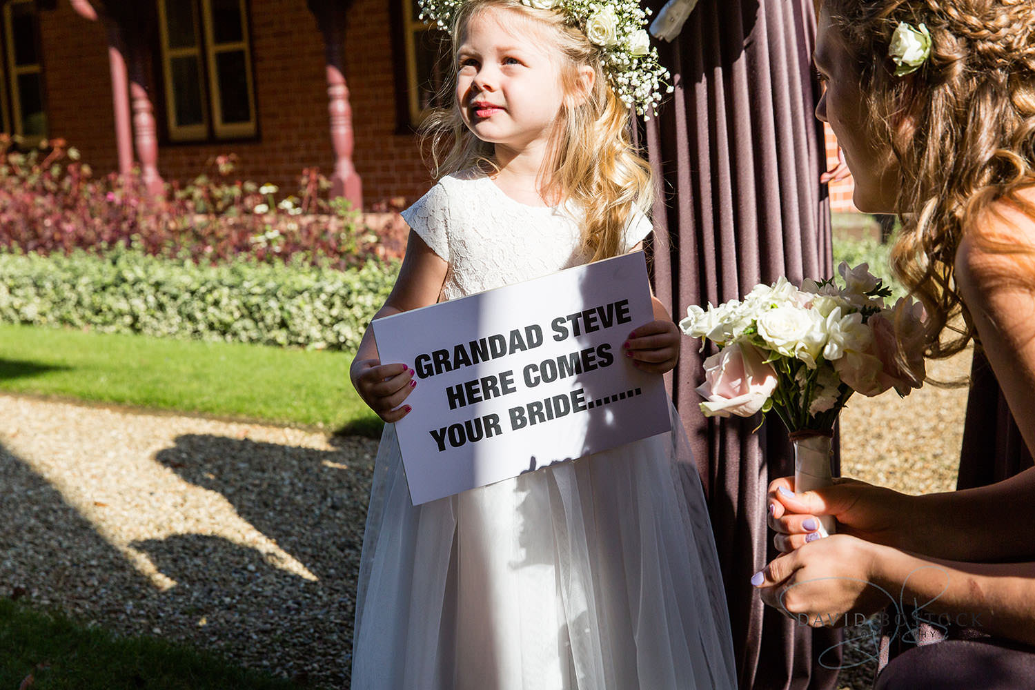 The Dairy Waddesdon wedding photo cute flower girl