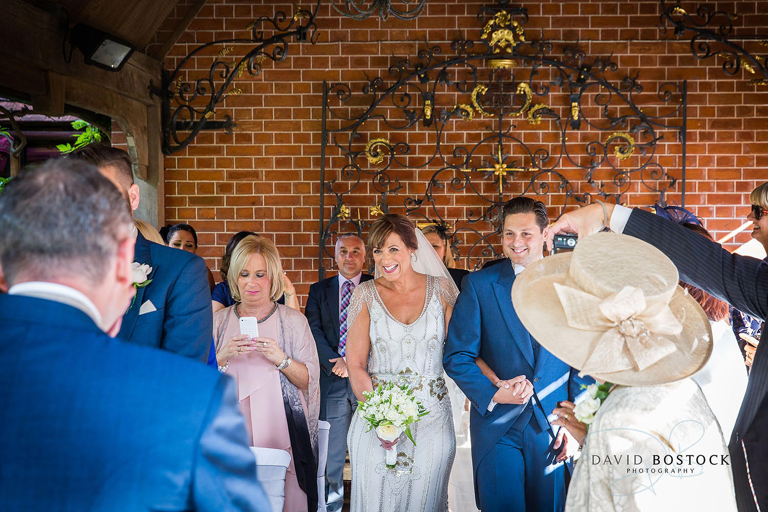 The Dairy Waddesdon wedding photo walking down the aisle