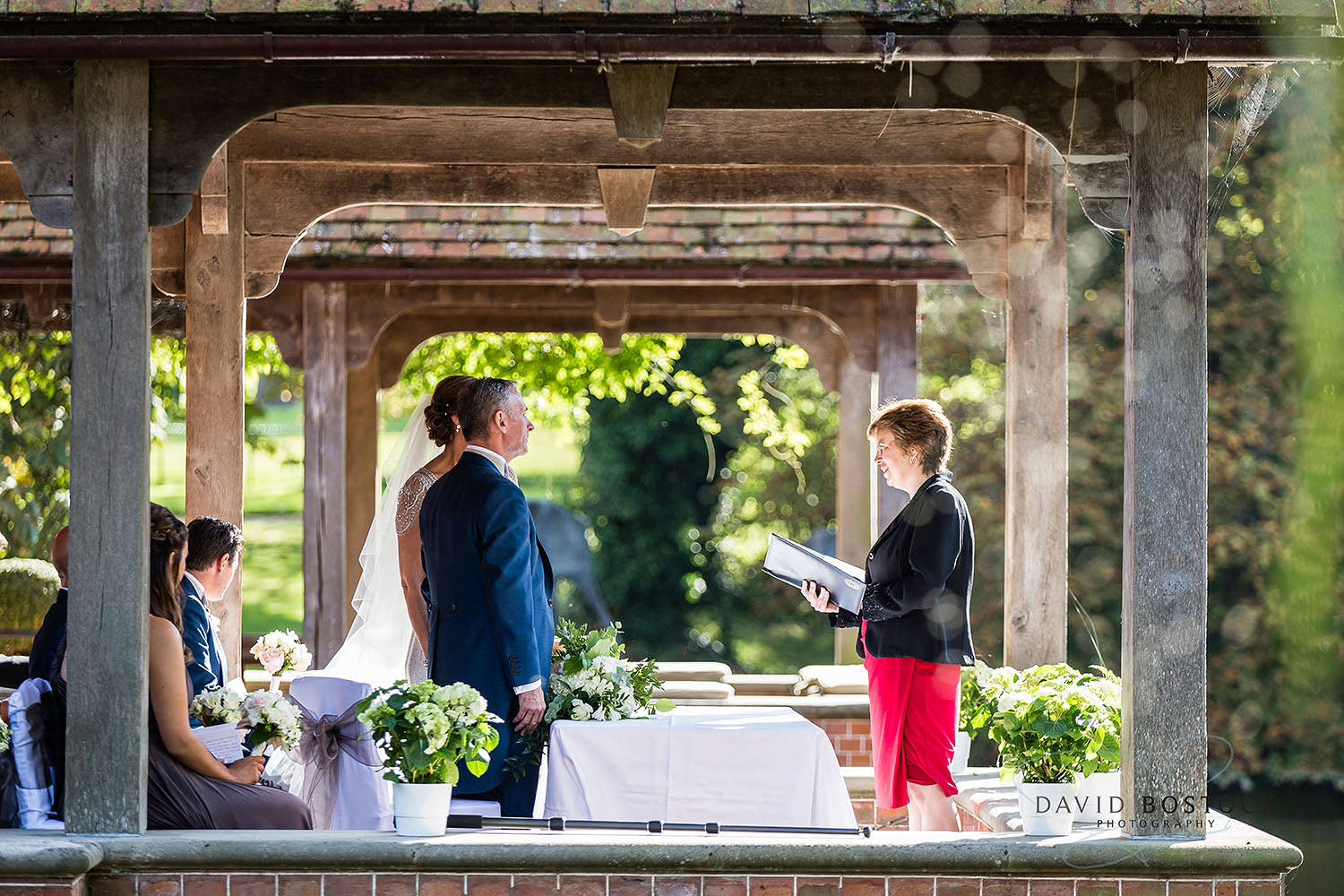 The Dairy Waddesdon wedding photo romantic ceremony