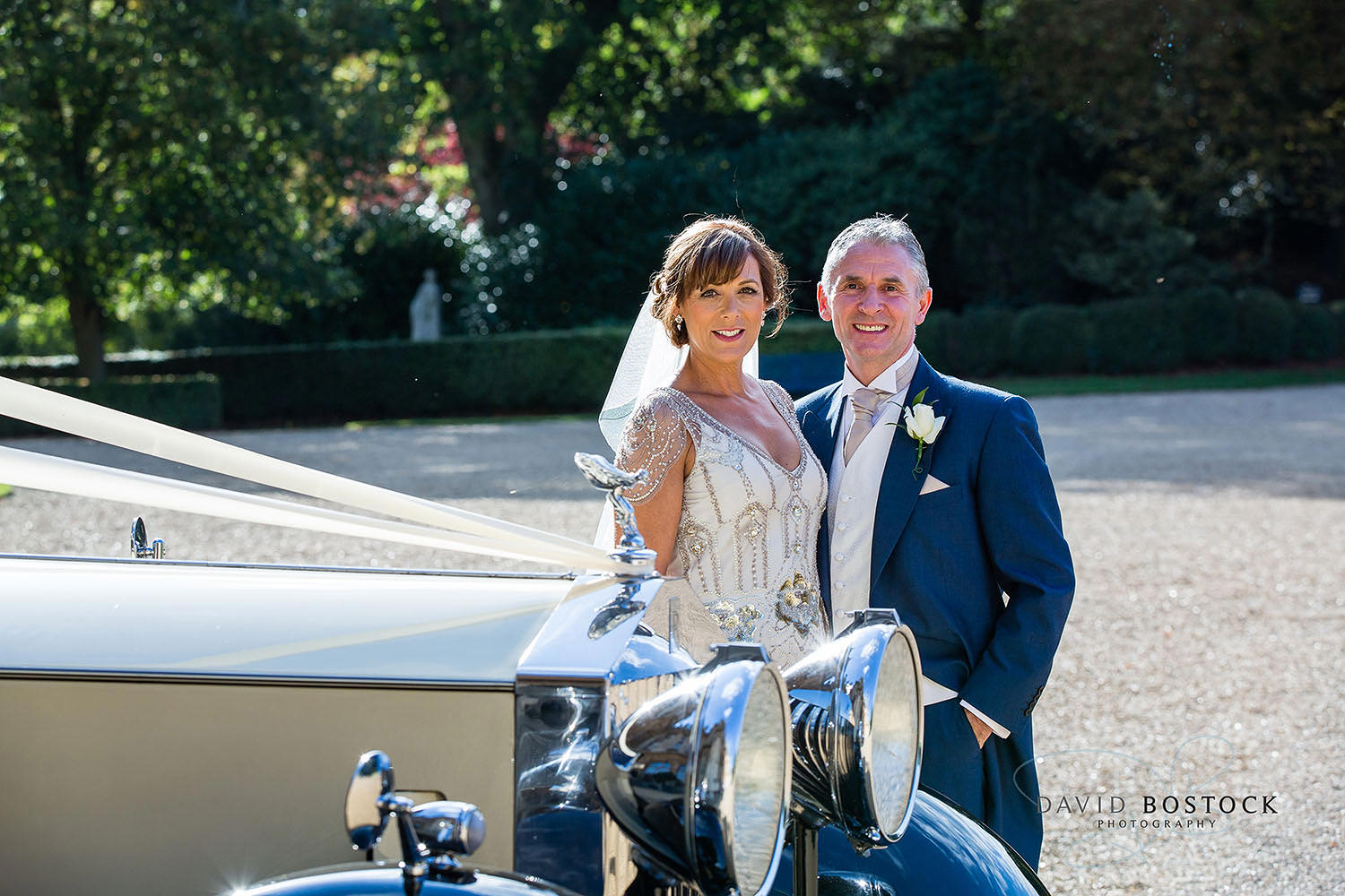 waddesdon Manor vintage car wedding
