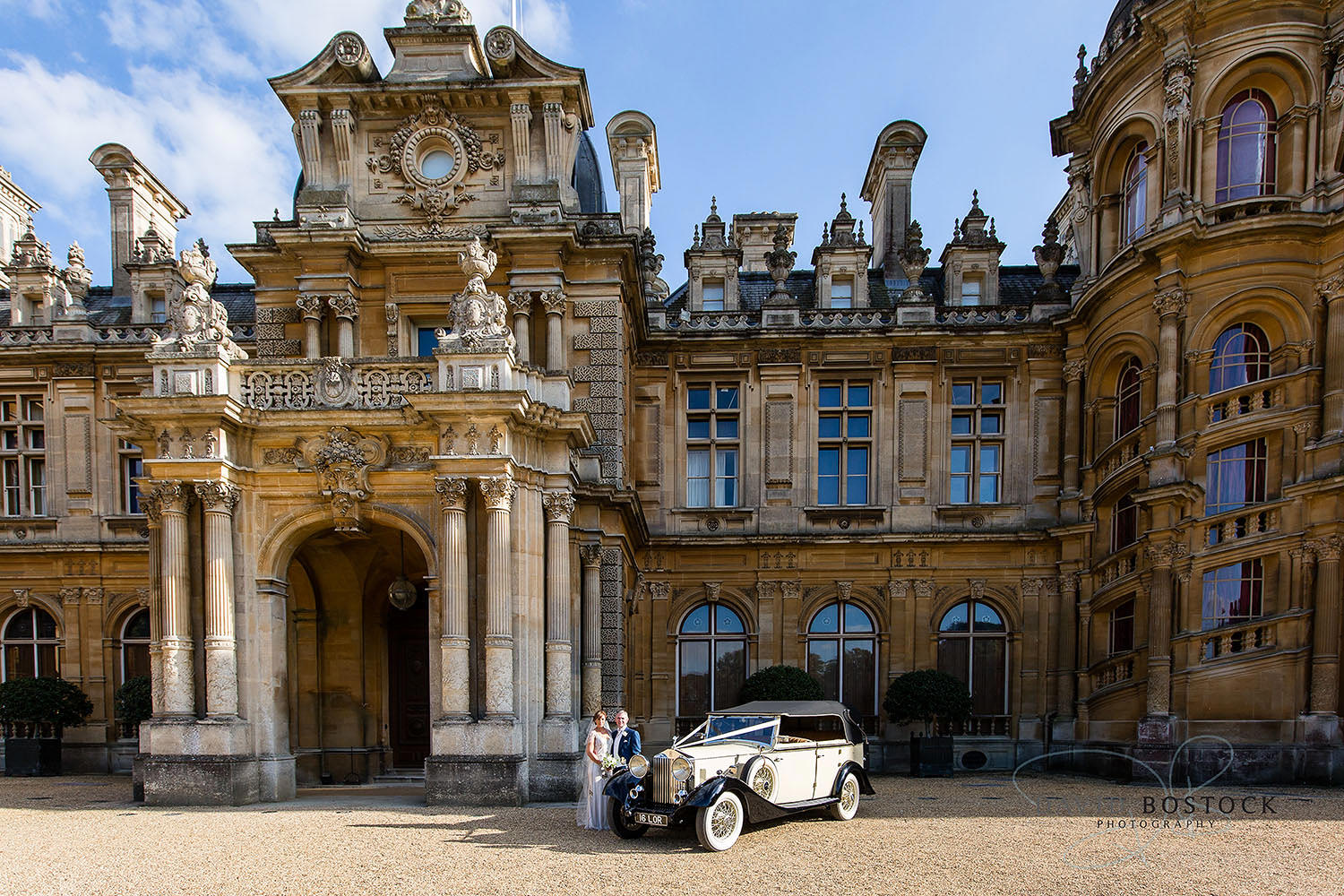 Waddesdon Manor stylish wedding