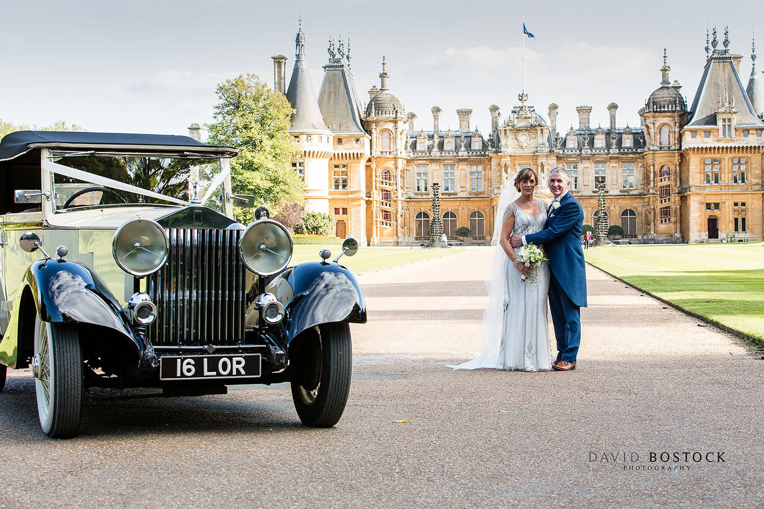 Waddesdon Manor bride and groom