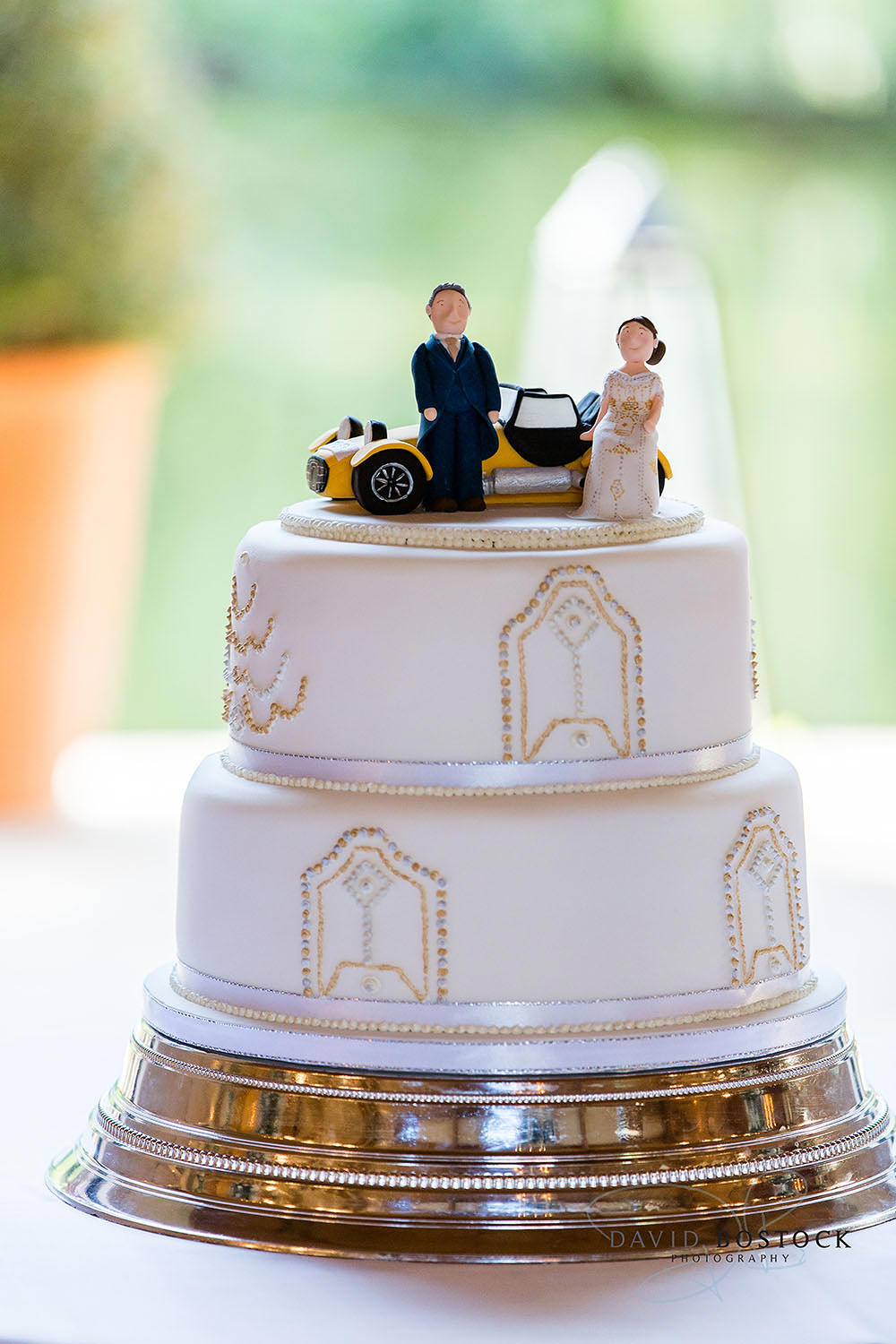 The Dairy Waddesdon wedding photo cake