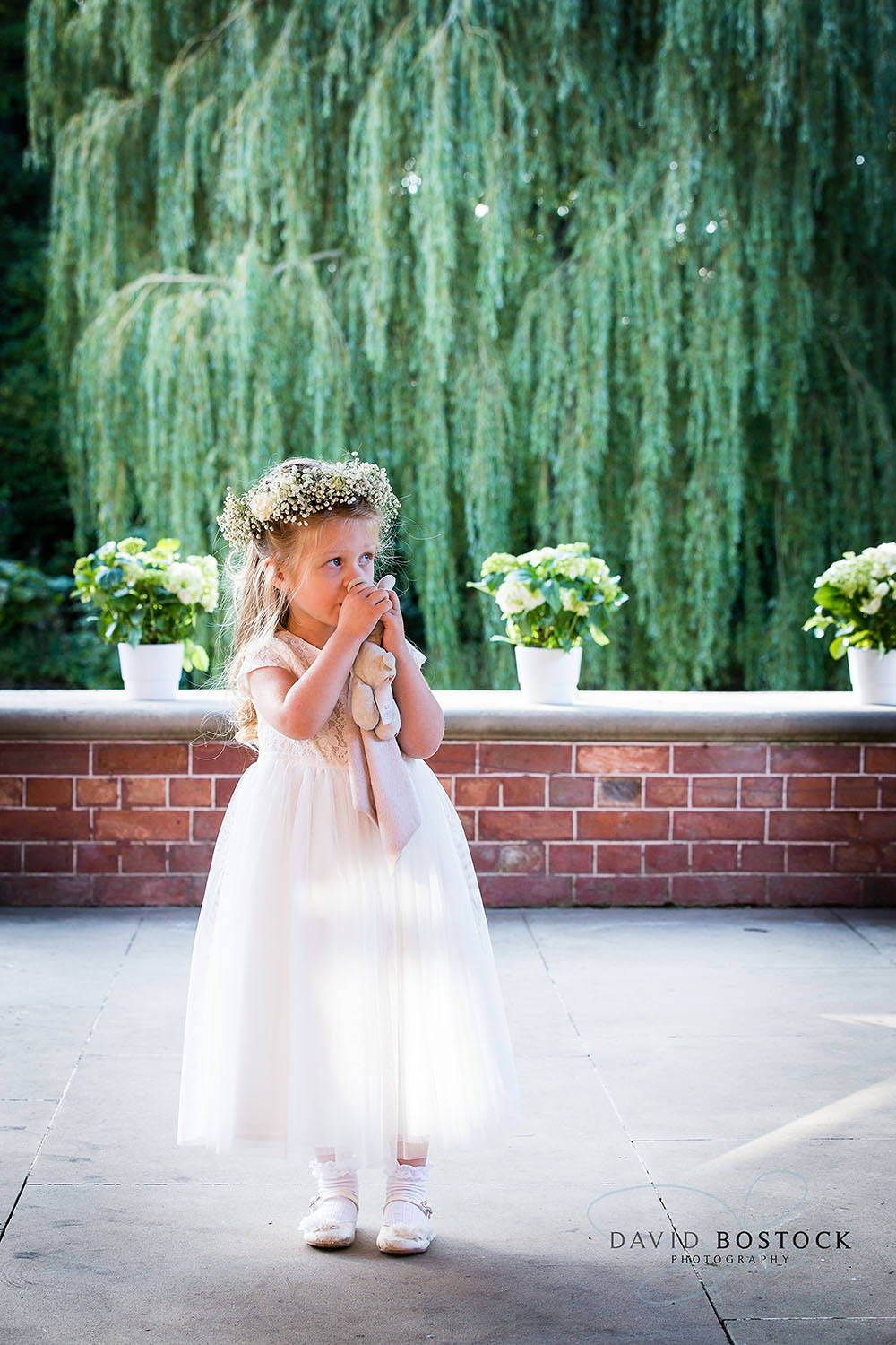 The Dairy Waddesdon wedding photo sweet flower girl