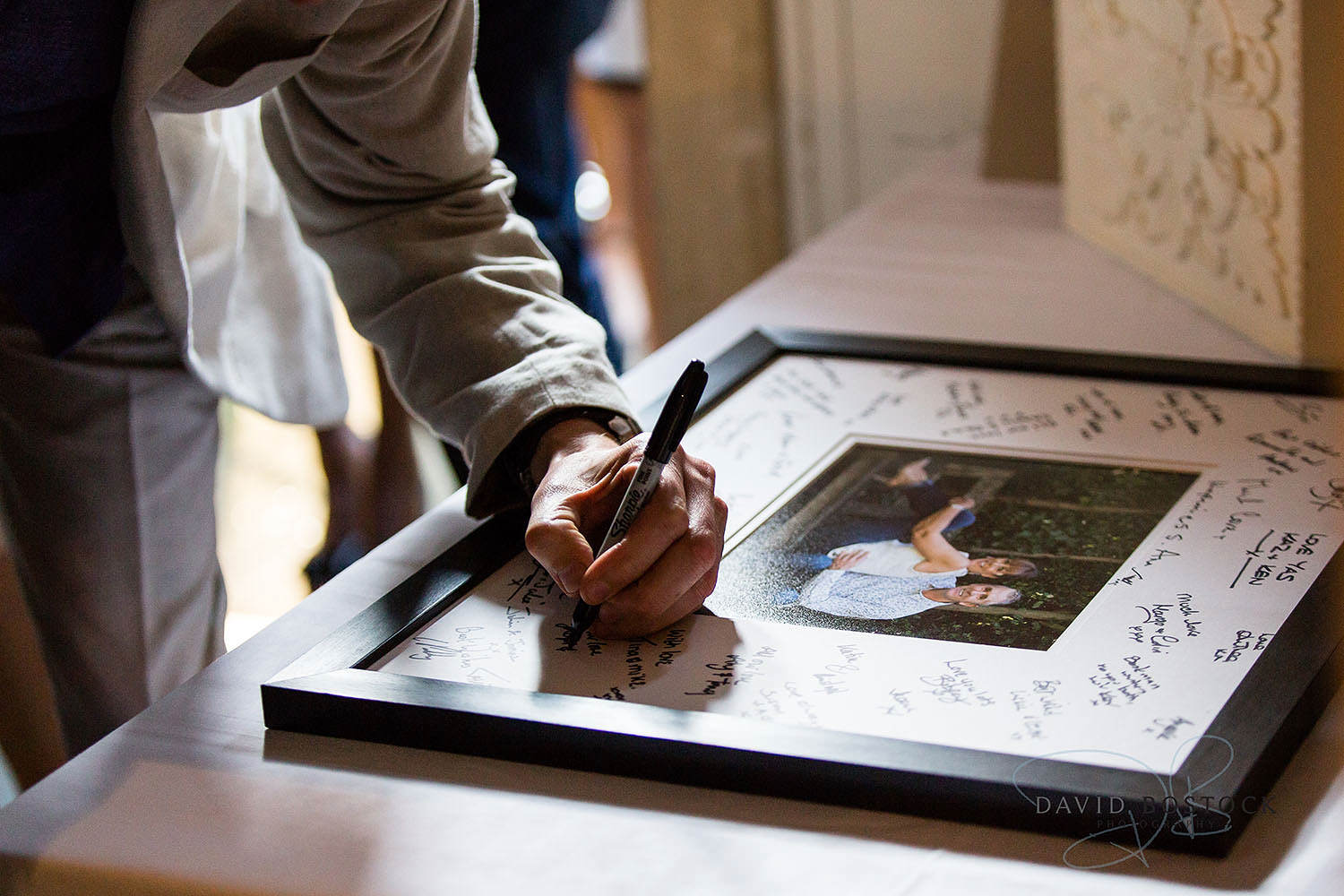 The Dairy Waddesdon wedding photo guestbook