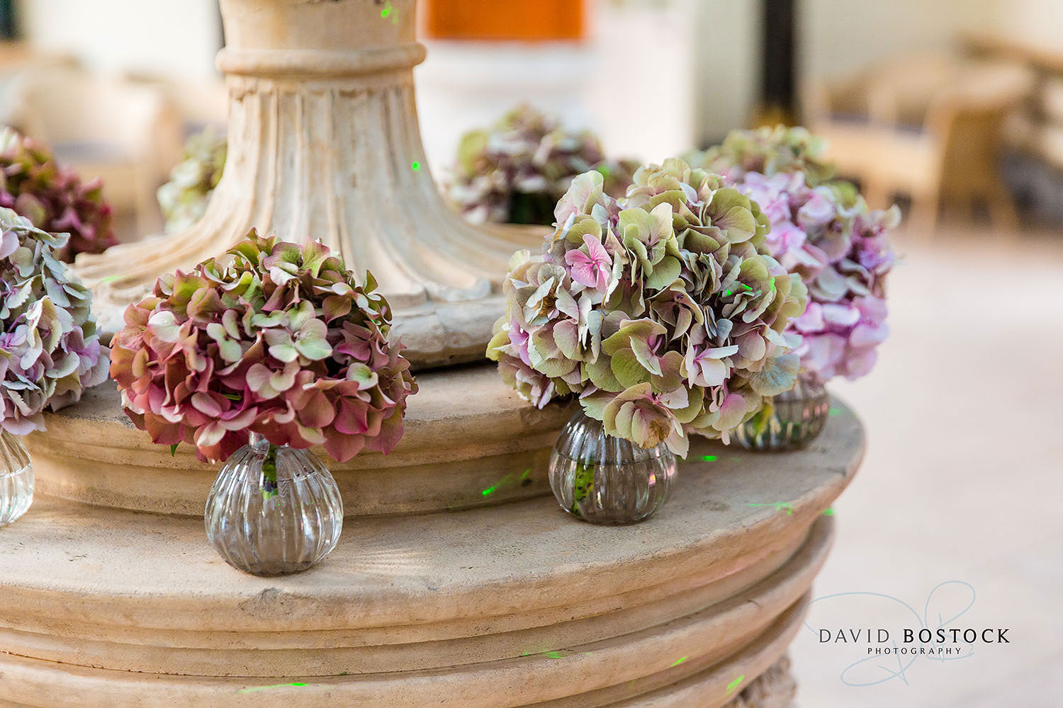 The Dairy Waddesdon wedding photo hydrangeas