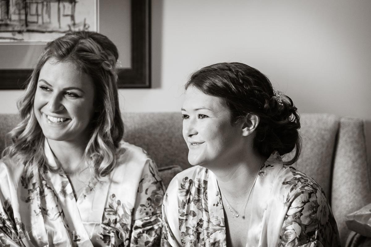 Ashmolean wedding bridesmaids getting ready