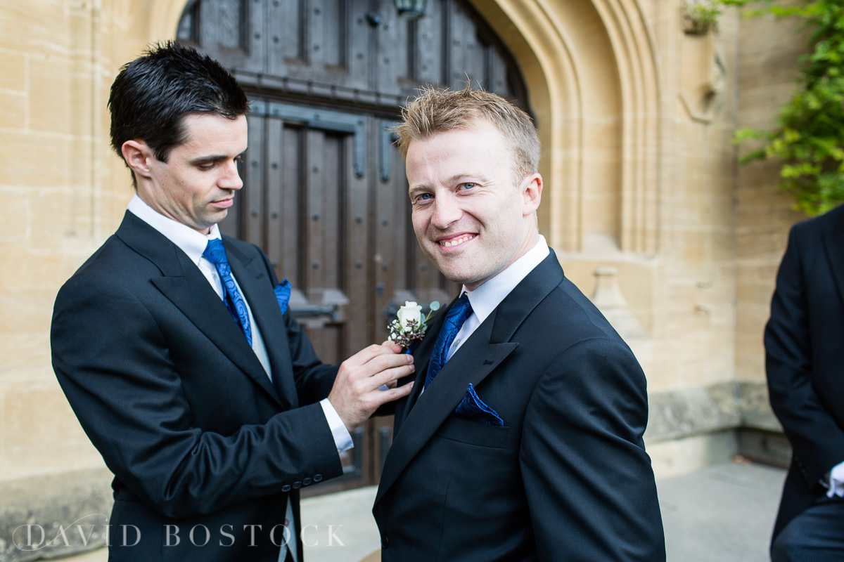 Ashmolean wedding groom at church