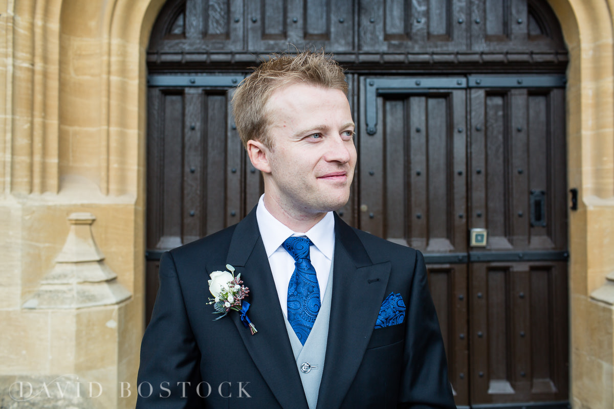 Ashmolean wedding groom portrait