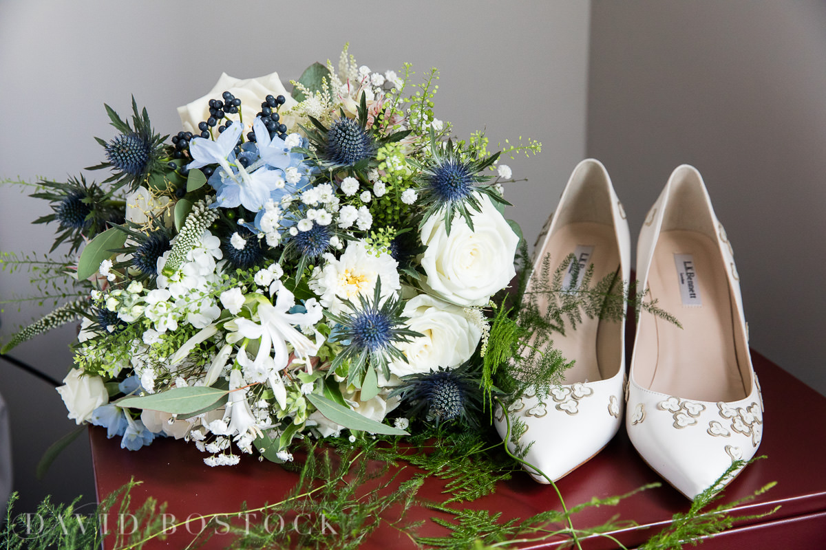 Ashmolean wedding shoes and bouquet