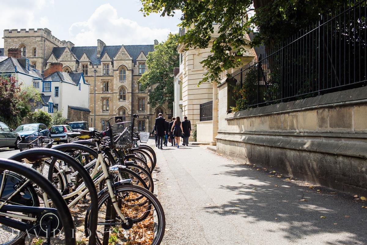 Ashmolean wedding Oxford bicycles