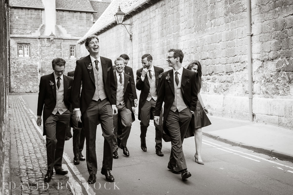 Ashmolean wedding groomsmen in Oxford