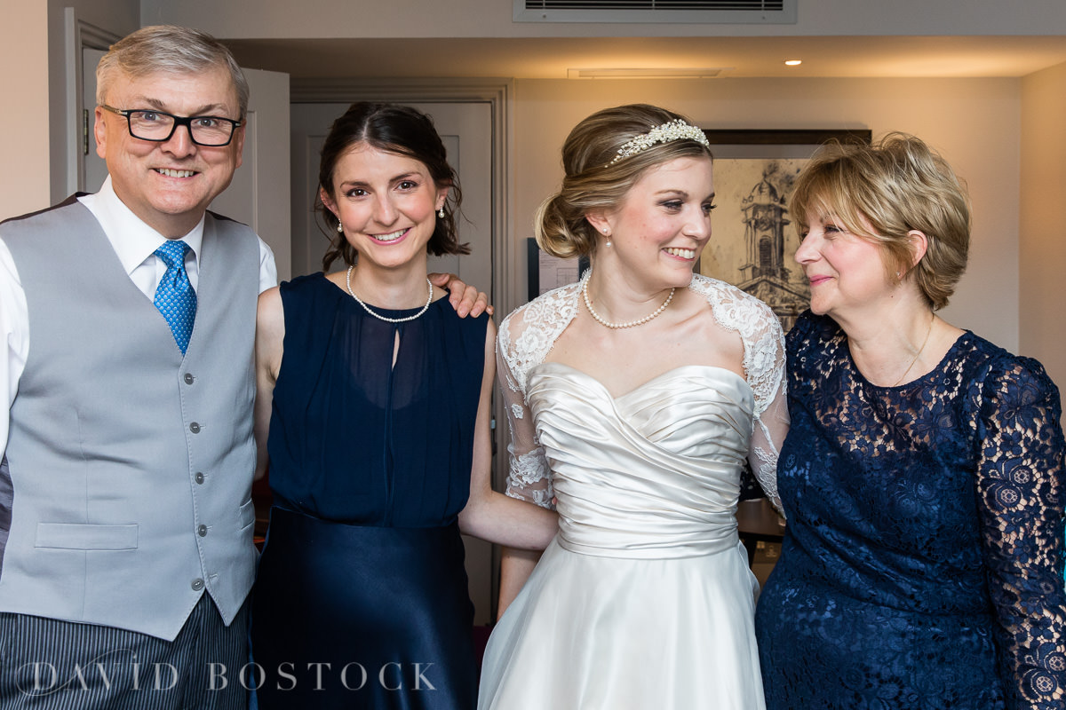 Ashmolean wedding bride and family