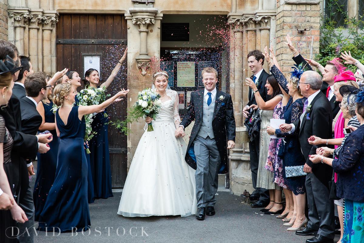 Ashmolean wedding The Oxford Oratory confetti photograph